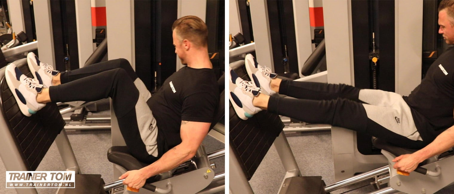 Hamstrings en billen trainen met de leg press machine