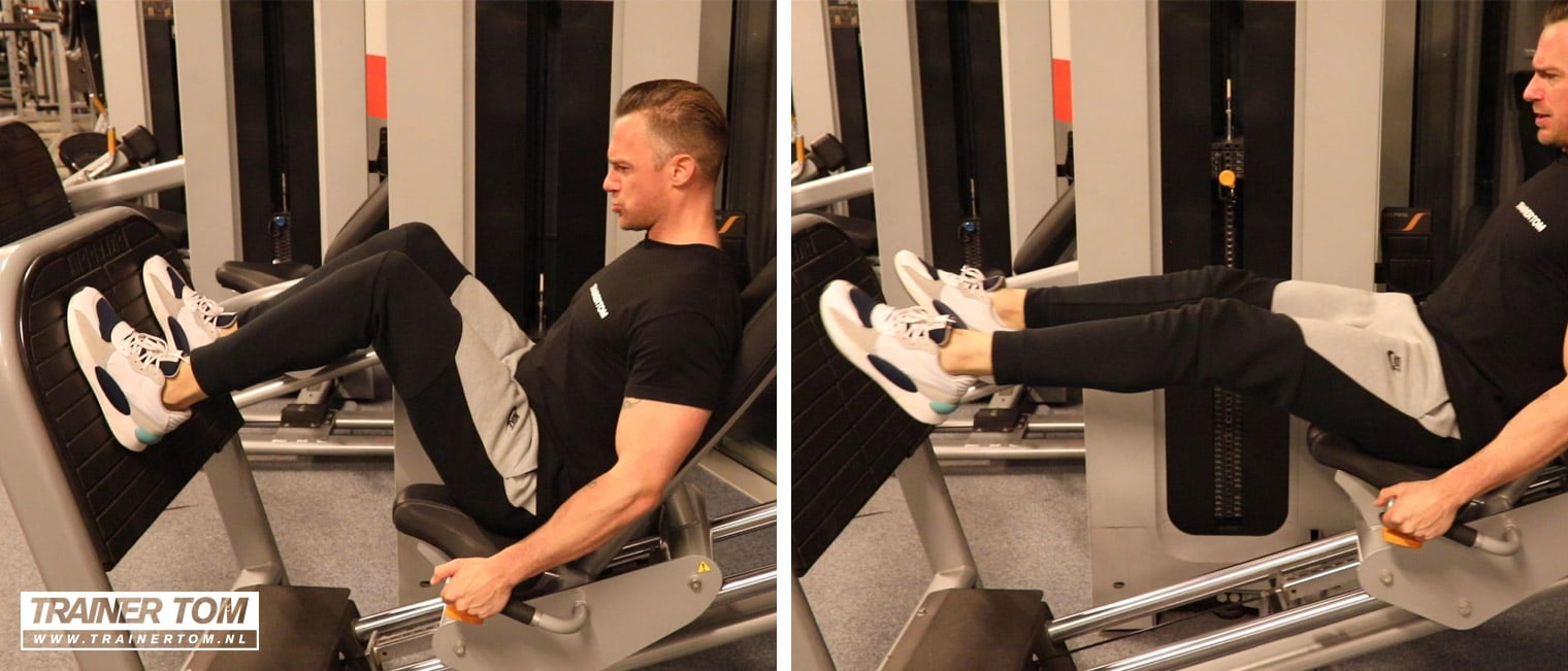 Jump squats op de leg press machine