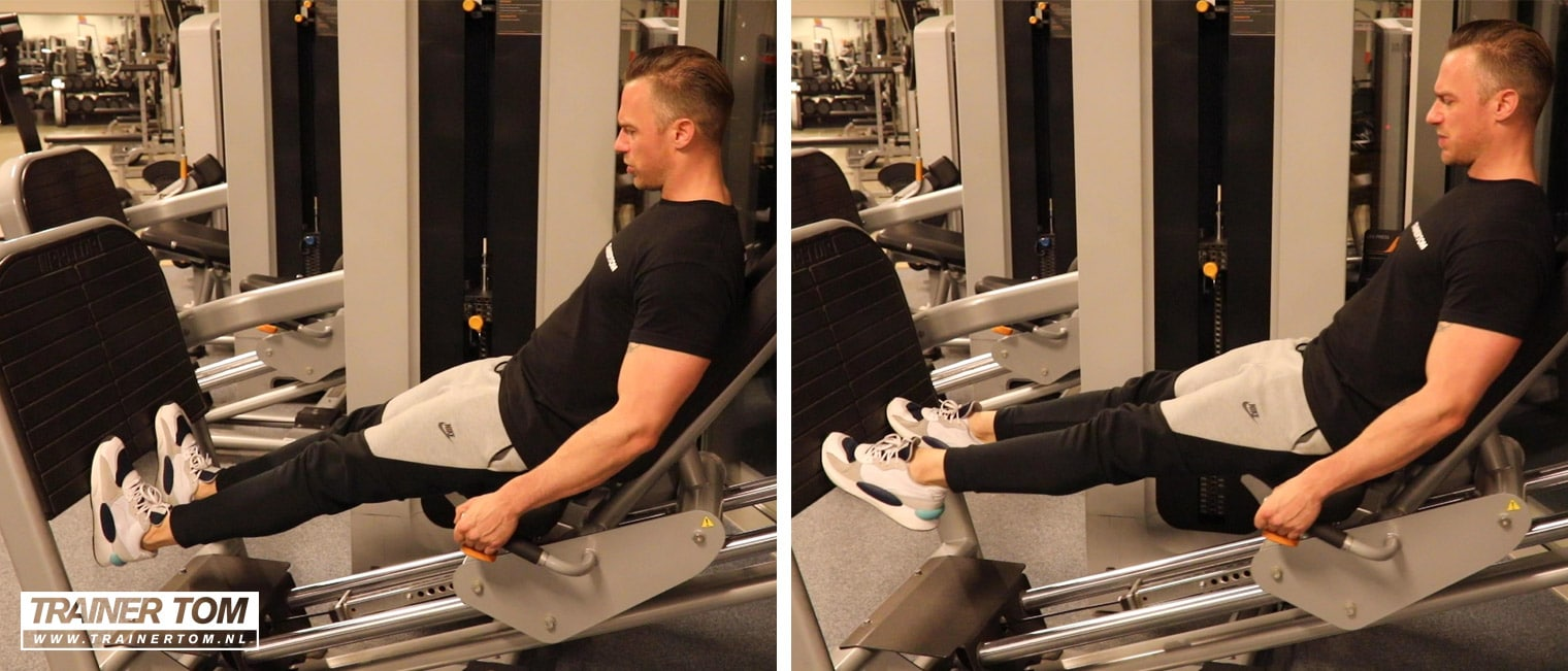Kuiten trainen met de leg press machine