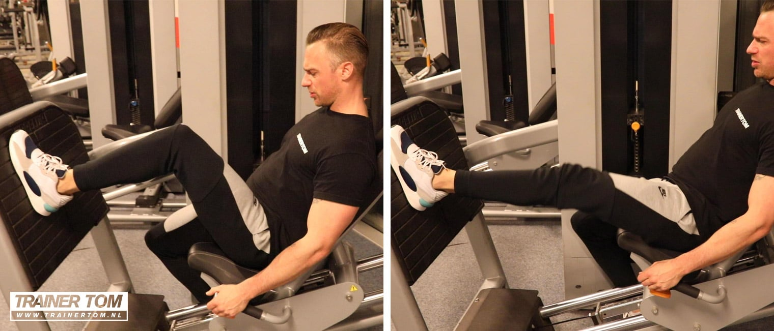 Single leg variant met de leg press machine